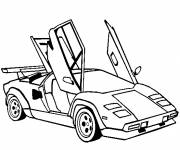 Coloring pages Lamborghini Butterfly Doors