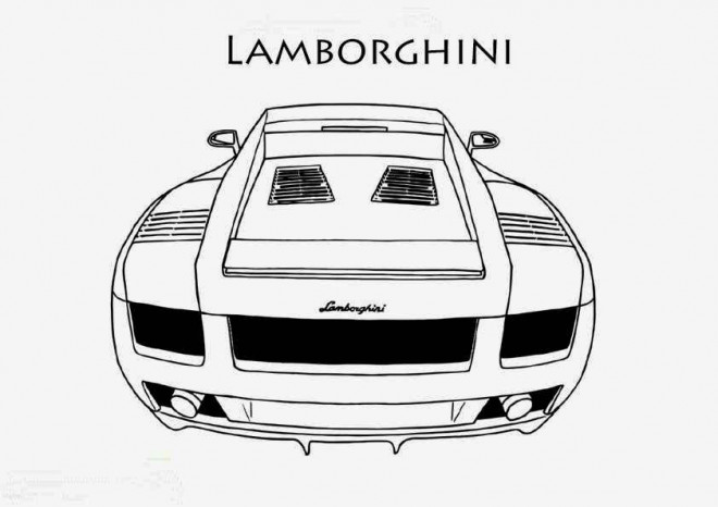 Free coloring and drawings Lamborghini coupe Coloring page