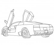 Free coloring and drawings Lamborghini diabolo Coloring page