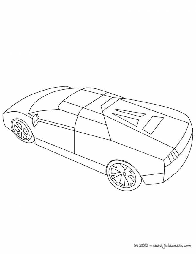 Free coloring and drawings Lamborghini Huracan online Coloring page