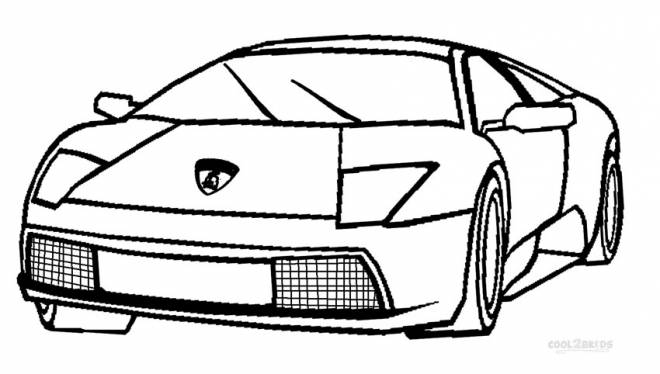 Free coloring and drawings Lamborghini Italian automobile Coloring page
