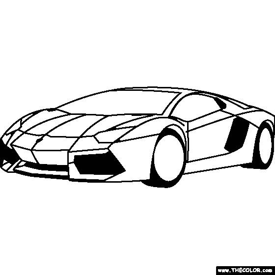 Free coloring and drawings Lamborghini Luxury Car Coloring page