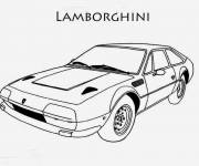 Coloring pages Lamborghini old model
