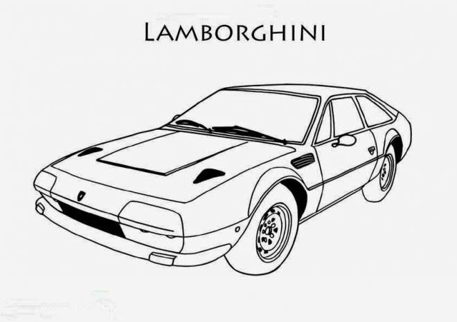 Free coloring and drawings Lamborghini old model Coloring page