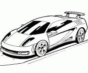 Coloring pages Lamborghini on the road