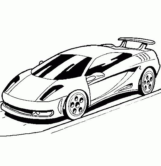 Free coloring and drawings Lamborghini on the road Coloring page