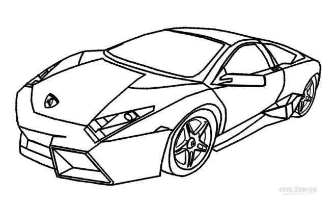 Free coloring and drawings Lamborghini online Coloring page