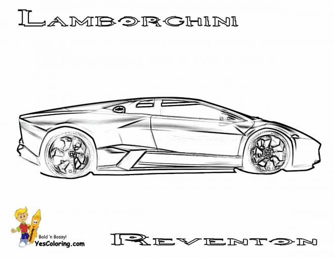 Free coloring and drawings Lamborghini Reventon to be cut Coloring page