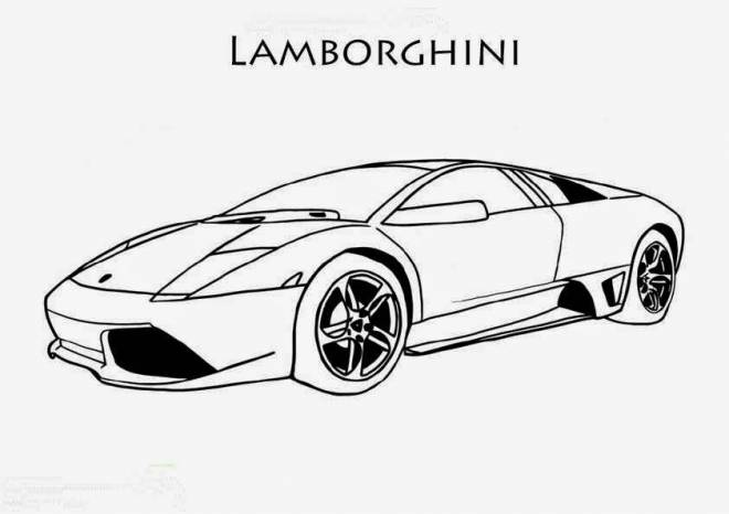 Free coloring and drawings Lamborghini Sesto Element Coloring page