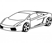 Free coloring and drawings Lamborghini Simple Coloring page
