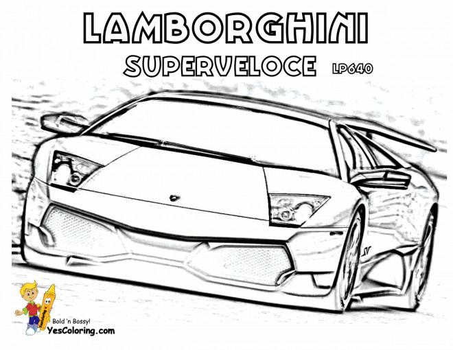 Free coloring and drawings Lamborghini Superveloce Coloring page