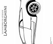 Coloring pages Lamborghini with its superb design