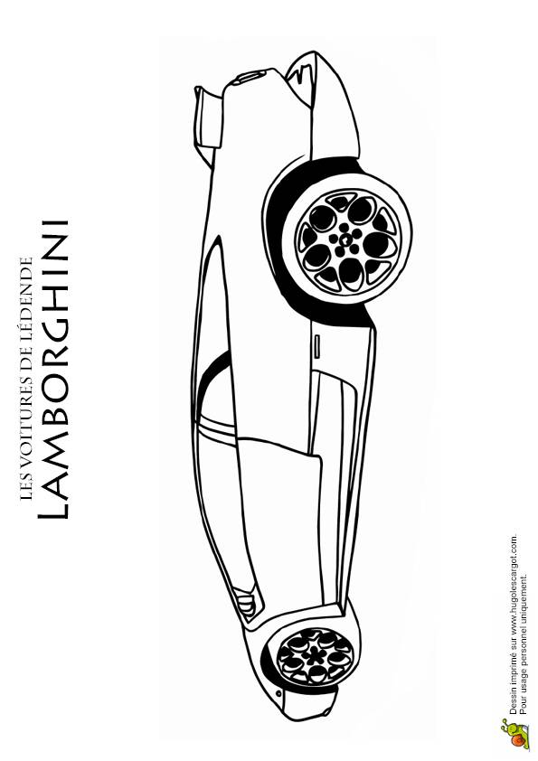 Free coloring and drawings Lamborghini with its superb design Coloring page
