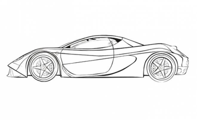Free coloring and drawings Porsche car Coloring page