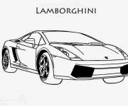Free coloring and drawings Stylized lamborghini Coloring page