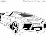 Coloring pages Vector lamborghini to color