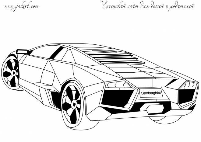 Free coloring and drawings Vector lamborghini to color Coloring page
