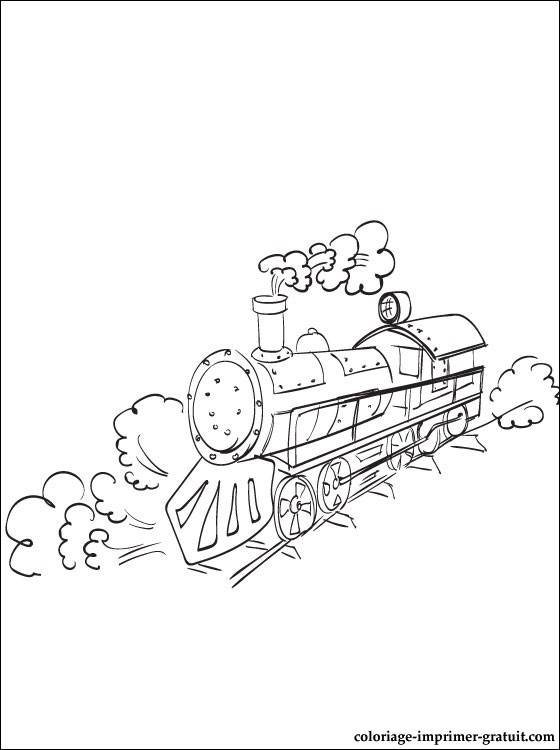 Free coloring and drawings A Diesel Locomotive Coloring page