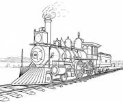 Free coloring and drawings A fast steam locomotive Coloring page