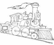 Free coloring and drawings Color locomotive Coloring page