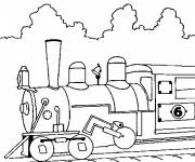 Free coloring and drawings Cutting locomotive Coloring page