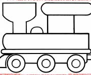 Free coloring and drawings Easy locomotive Coloring page