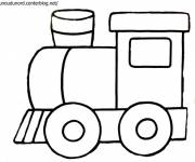 Free coloring and drawings Easy steam locomotive Coloring page
