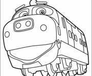 Free coloring and drawings Funny locomotive Coloring page