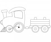 Coloring pages Locomotive simple