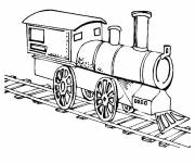 Free coloring and drawings Locomotive to be colored Coloring page