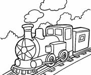 Free coloring and drawings Locomotive to download Coloring page