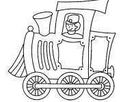 Free coloring and drawings Locomotive train driver Coloring page