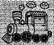 Free coloring and drawings Maternal locomotive Coloring page