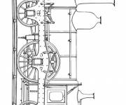 Free coloring and drawings Steam train Coloring page