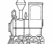 Free coloring and drawings Steam train locomotive Coloring page