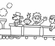 Free coloring and drawings The little friends of the rail Coloring page