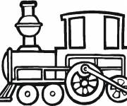 Free coloring and drawings Vector locomotive Coloring page