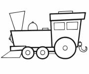 Coloring pages Vector locomotive to print