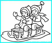 Coloring pages Color sled