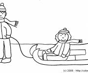 Coloring pages Easy sledding