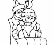Coloring pages Snow sledge