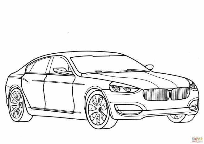 Free coloring and drawings Classic bmw Coloring page