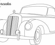 Coloring pages Classic Mercedes model 1983