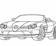Coloring pages Convertible mercedes