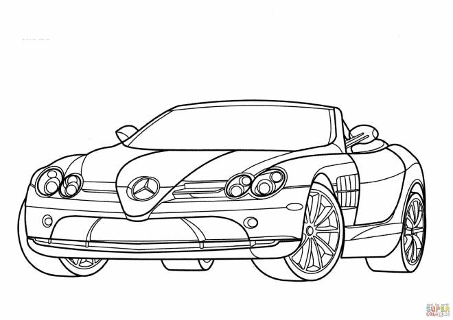 Free coloring and drawings Convertible mercedes Coloring page
