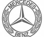Coloring pages Logo Mercedes