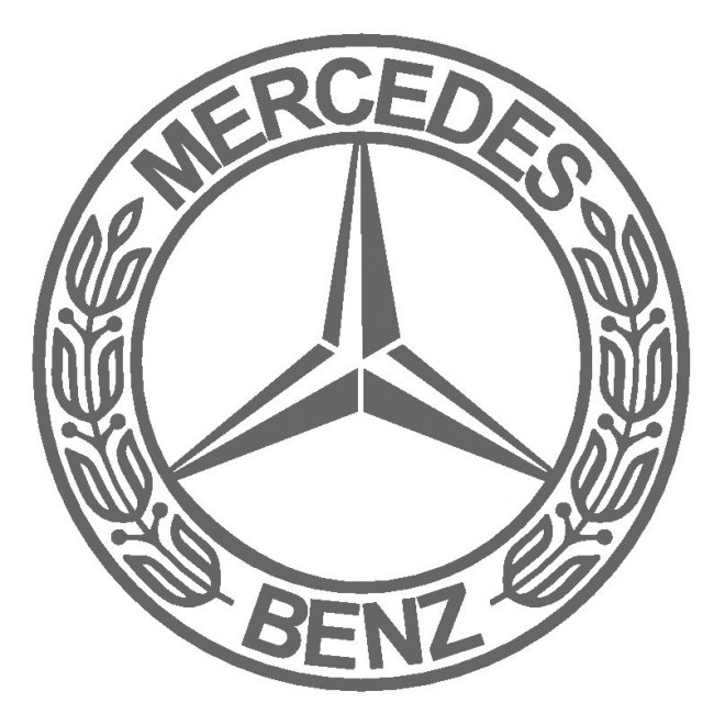 Free coloring and drawings Logo Mercedes Coloring page