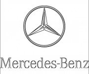 Coloring pages Logo Mercedes Benz