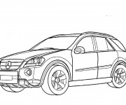 Coloring pages Mercedes 4 × 4