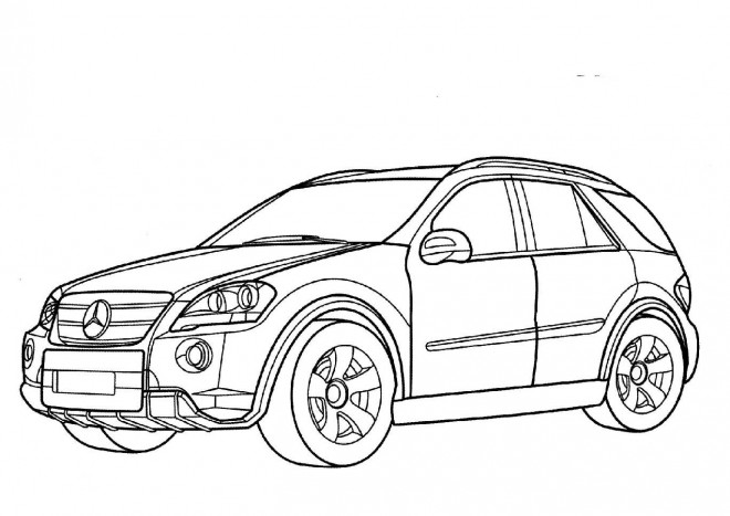Free coloring and drawings Mercedes 4 × 4 Coloring page